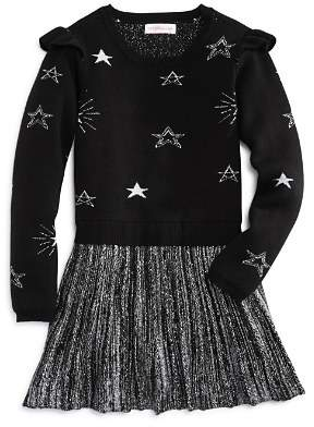 Design History Girls' Star Pleated Sweater Dress - Little Kid