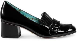 Gucci Black Marmont 50 Patent Leather pumps