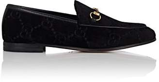 Gucci Women's Bit-Detail Velvet Loafers - Black