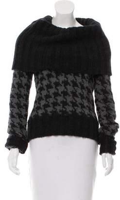 Dolce & Gabbana Alpaca Argyle Print Sweater