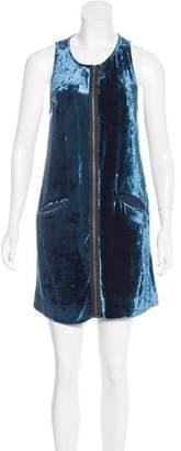 Vena Cava Velvet-Paneled Zip-Up Dress