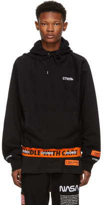Heron Preston Black Handle With Care Hoodie