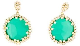 Suzanne Kalan Antique 18K Green Onyx & Sapphire Drop Earrings