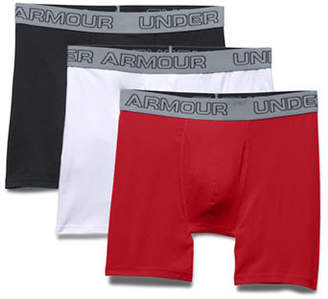 Under Armour Three-Pack Charged Cotton Stretch 6-Inch Boxerjocks