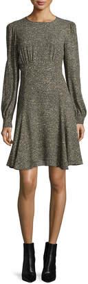 Michael Kors Long-Sleeve Fit-&-Flare Dress