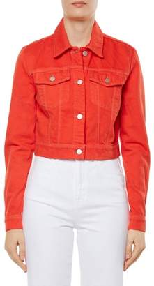 J Brand Faye Crop Denim Jacket