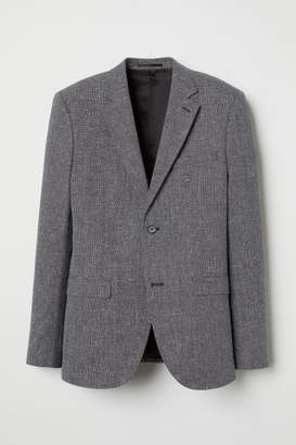 H&M Slim Fit Wool-blend Blazer - Black