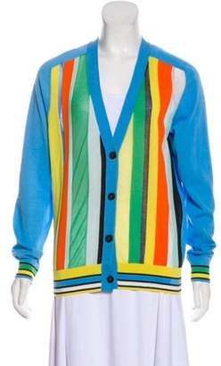 Diane von Furstenberg Knit Button-Up Cardigan blue Knit Button-Up Cardigan
