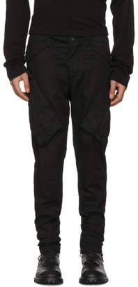 Julius Black Vertical Gas Mask Cargo Pants