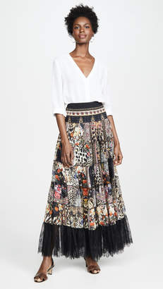 Camilla Sheer Tiered Circle Skirt / Dress