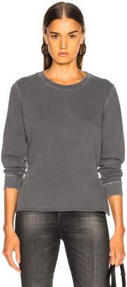 Amo Girlfriend Sweatshirt With Shirring