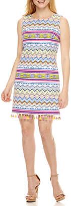 R & K Originals Sleeveless Sheath Dress-Petite