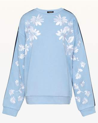 Juicy Couture Floral Embroidered French Terry Pullover