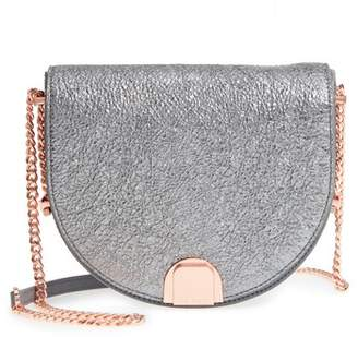 Ted Baker Half Moon Metallic Leather Crossbody Bag