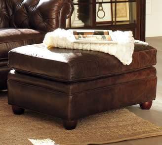 Pottery Barn Chesterfield Leather Ottoman