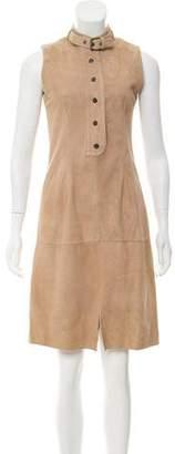 Belstaff Knee-Length Suede Dress