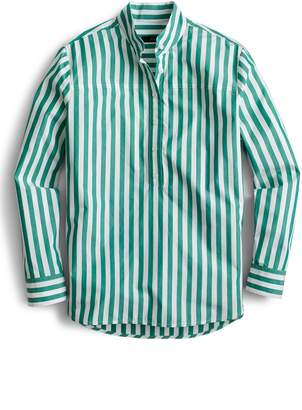 J.Crew Bold Stripe Band Collar Popover Tunic Shirt