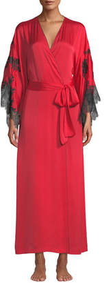 Natori L'Amour Lace-Trim Long Robe