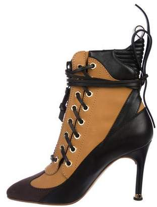 Louis Vuitton Leather Ankle Booties