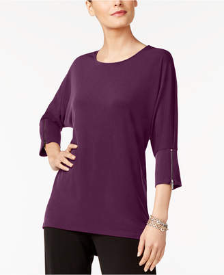Alfani Dolman-Sleeve Zip-Cuff Top, Created for Macy's $59.50 thestylecure.com