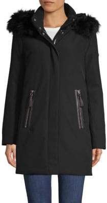Derek Lam 10 Crosby Fox Fur-Trimmed Down Parka Coat