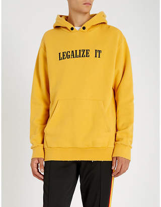Palm Angels Legalize It cotton-jersey hoody