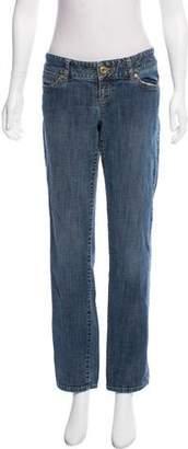 Michael Kors Mid-Rise Straight Leg Jeans