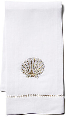 Hamburg House Scallop Shell Linen Guest Towel