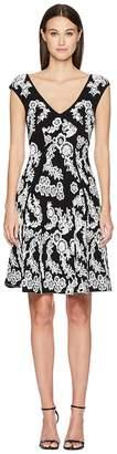Zac Posen Knitted Jacquard Short Sleeve Dress Women's Dress