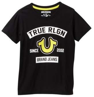 True Religion Logo Short Sleeve Tee (Toddler & Little Boys)
