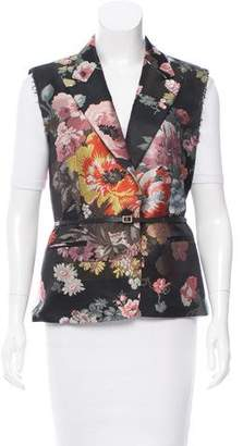 Dries Van Noten Floral Patterned Belted Vest w/ Tags