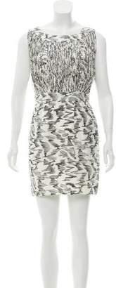 Loeffler Randall Silk Patterned Mini Dress