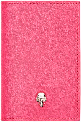Alexander McQueen Pink Leather Skull Wallet $215 thestylecure.com