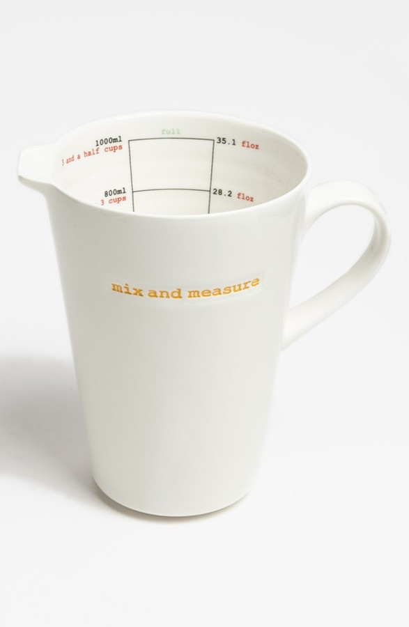 MAKE INTERNATIONAL 'Word Range - Mix and Measure' Porcelain Measuring Jug