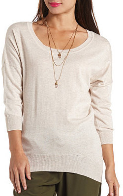 Charlotte Russe High-Low Dolman Tunic Sweater