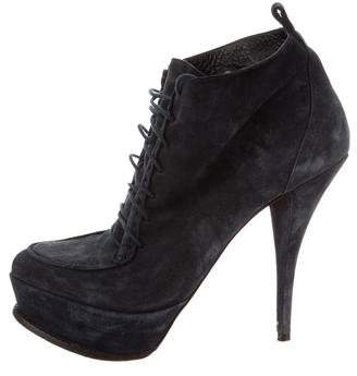 Elizabeth and James Lace-Up Platform Booties
