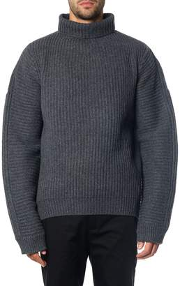 Acne Studios Grey Nalle Ribbed Sweater In Wool