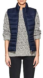 Save The Duck SAVE THE DUCK WOMEN'S CHANNEL-QUILTED TECH-FABRIC VEST-NAVY BLUE,09 SIZE S