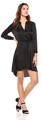 Wild Meadow Women's Long Sleeve Shirt Dress with Drawstring Waist XL