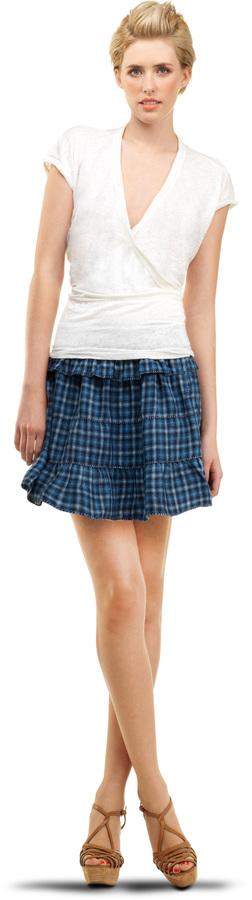 Ruffled Short Skirt