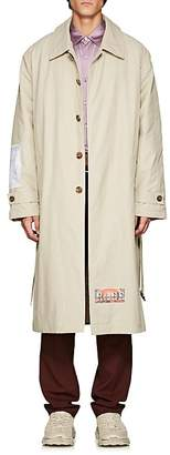 Martine Rose Men's Patch-Appliquéd Cotton-Blend Trench Coat