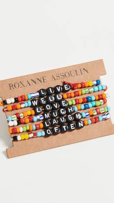 Roxanne Assoulin Live Well Love Much Laugh Often Camp Bracelets