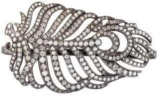 Loree Rodkin 18K Diamond Feather Hand Cuff