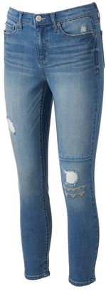 Juniors' Mudd® FLX Stretch Ripped Embroidered Ankle Skinny Jeans $44 thestylecure.com