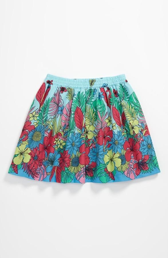 Pumpkin Patch Tropical Print Skirt (Baby)