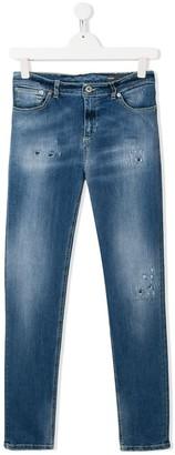 Dondup Kids distressed detail jeans