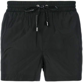 Dolce & Gabbana braided logo trim swim shorts