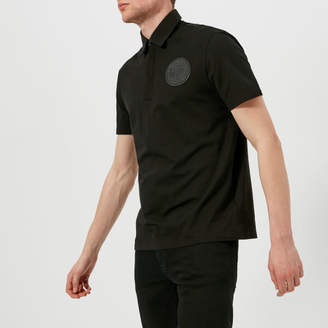 Versace Men's Round Logo Polo Shirt