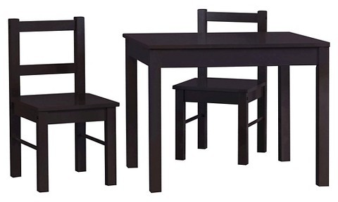Cosco Cosco Hazel Kid's Table and Chairs Set - Espresso