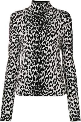 Givenchy leopard print turtleneck sweater